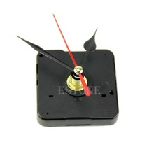 Free shipping Quartz Wall Clock Movement Mechanism Repair Tool Kit with Black & Red Hands