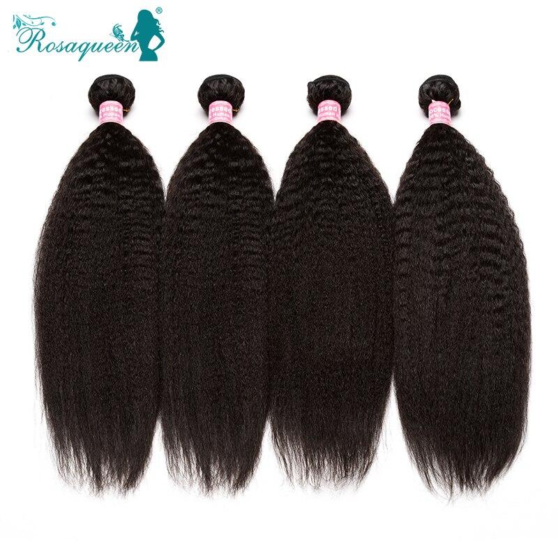 100% Unprocessed Indian Virgin Hair 4Bundles Kinky Straight Hair Italian Yaki Straight Hair Weave Full Kinky Straight Hair Weave<br><br>Aliexpress