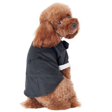 Large Cute Pet Dog Cat Clothes Prince Wedding Suit Tuxedo Bow Tie Puppy Dog Coat(China)