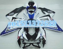 Dor-2008 2009 2010 GSXR 600 Body Kit Fairing blue black white For A GSXR600 10 GSXR750 09 GSX R 600 08 GSXR750 09 K8 for SUZUKI(China)