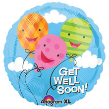 5pcs/lot 18 inch Get Well Soon Wishes Balloons Anagram Foil Balloon Birthday Party Supplies Cartoon Globos.