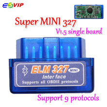New Mini ELM327 ODB2 Bluetooth Adapter ELM 327 V1.5 Auto excellent Scanner Diagnostic Tool for Android Torque Single Board V1.5