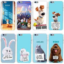 347GH The Secret Life of Pets Hard Transparent Painted Cover for iphone 4 4s 5 5s 6 6s plus 7 7 Plus