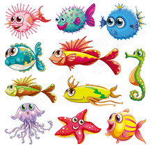 Colife Ocean Animal Patches Iron On Patches For Clothes Children T-shirt Dresses Sweater DIY Decoration 11pcs/lot(China)