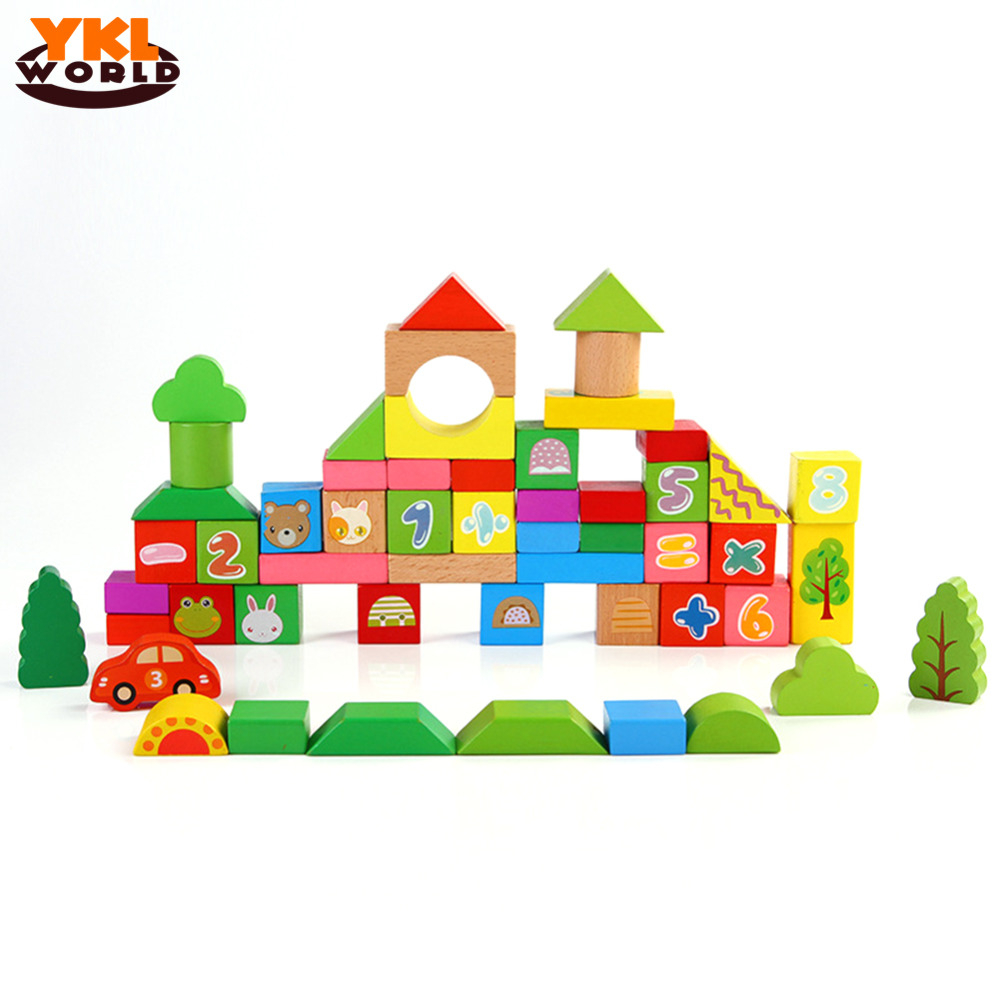 High Quality Children Enlightenment Educational Wooden Numbers Geometric Mathematics Blocks Assemblage Brinquedos for Kids -45<br><br>Aliexpress