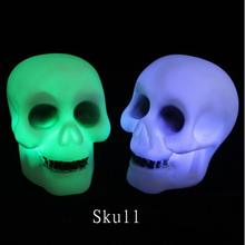 Home Use Skull LED Bedside Table Light Halloween Lamp Party Decoration Prop Halloween Decor(China)