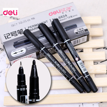 Deli permanent Dual-side writing round toe Instantly dry graffiti oil ink sharpie paint colored marker pens for tires fabric