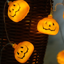 Halloween pumpkin DIY LED String Light decoration, AA Battery operated, Halloween Party garland light decoration