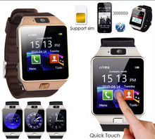 LED Electronic intelligent Wristwatch Waterproof Sport Gold Smart Watch DZ09 Pedometer For iPhone Android Wrist Watch Men Gift