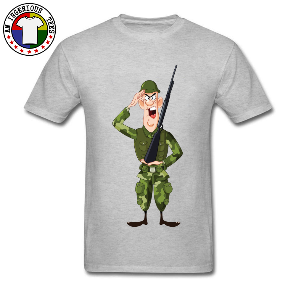 Soldier Salute Royalty Crewneck Top T-shirts Autumn Tees Short Sleeve Hip Hop Pure Cotton Design Tee Shirt Normal Men Soldier Salute Royalty grey