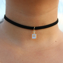 Gothic Choker Necklaces Women Clavicle Collares Fashion Jewelry Bijoux Colier One Direction Necklace Perfume Bottle NEW 2017