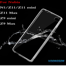 VOONGSON Crystal Case For ZTE Nubia N1 N2 M2 lite Z9 Max Z11 Z17 mini Z11 minis Max Transparent TPU Soft Cover Phone Case