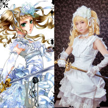 Black Butler Cruises Cover Elizabeth Midford Lizzy White Dress Cosplay Costume Custom Made Free Shipping