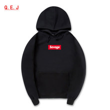 Savage Hoodies Sweatshirt High Quality 1:1 Cotton Long Sleeves Hoody Savage Fashion Skateboard Suprem Hoodie Men Women