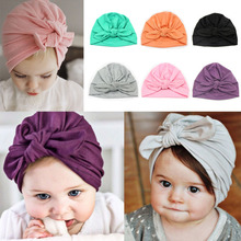 Baby Hats Cute Children's Knot Hat Autumn Winter Head Wrap Baby Boys Girls Cotton Caps Indian Toddler Soft Beanie 2016 New