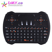 Hot selling R6 2.4G Wireless QWERTY Keyboard Russian Hebrew English Version keyboards Touchpad for PC Notebook Android TV Box
