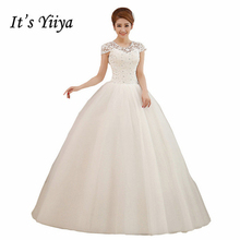 Buy 2017 Plus size Lace O-neck Wedding Dresses Short Sleeves White Cheap Bride Gowns Custom Made Real Photo Vestidos De Novia XXN003 for $37.91 in AliExpress store