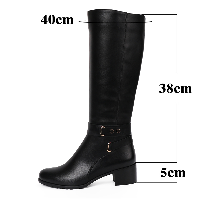 AIMEIGAO New 2017 Winter High Boots Round Toe knee High Boots Zipper Boots Winter Shoes For Women zapatos de mujer de moda