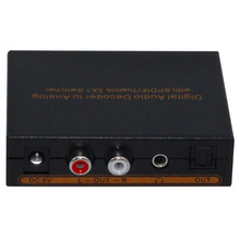 3 Port SPDIF/Toslink switch 3x1 with SPDIF/Toslink , L/R analog audio   , one headphone output Supports  Dolby AC3, DTS,