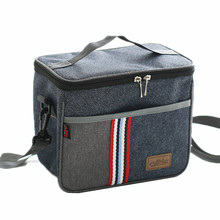 Denim Shoulder Ice Cooler Bags Leisure Women's Kid's Picnic Lunch Pouch Box Insulated Pack Drink Food Thermal Accessorie Supply