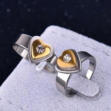 Buy direct from china 2015 rings 316L stainless steel corrosion Titanium Rings Women's love Rings jewelry wholesale(KA0104)