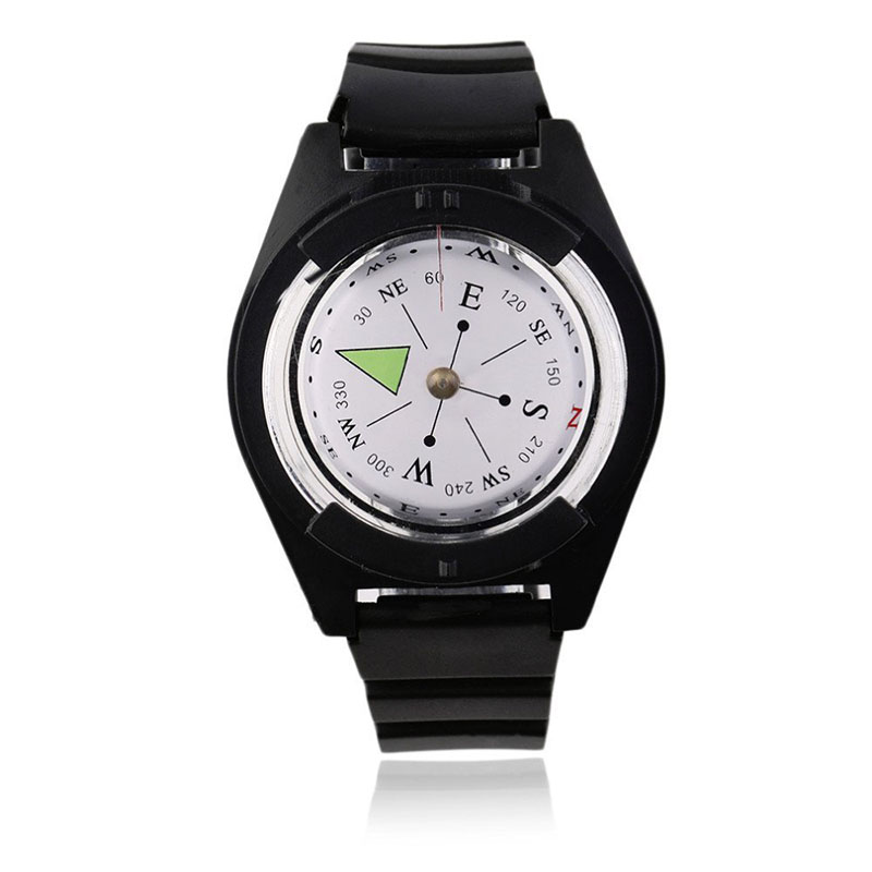 Tactical Wrist Compass Outdoor Camping Tool Survival Adventure Hiking Tourism Equipment Fishing Hunting Accessories Black Band (7)