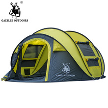 GAZELLE throw tent outdoor automatic tents throwing pop up waterproof camping hiking tent waterproof large family tents