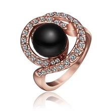 Free Shipping Vintage Love women jewelry   gold color  Engagement rings black beads prices in euros men jewelry HBR247