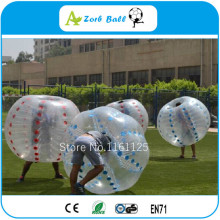 8pcs+2pump 1.0m TPU Commercial human inflatable body bumper ball for kids/ bubble soccer with durable TPU from China Inflata(China)