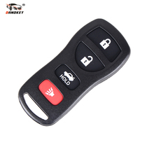 DANDKEY 4 Buttons Replacement Keyless Entry Remote Control Key Fob Clicker Fit For Nissan KBRASTU15 Refit Car Key