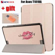 "Simple Design Custer PU Leather case protective Shell For ASUS Transformer Book T101HA 10.1"" 2016 Tablet Case Flip Cover"