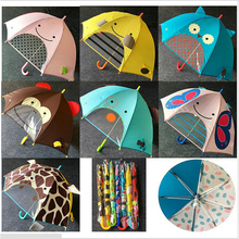 Kid 3D Cartoon Animal Umbrella Outdoor Windproof Long-handle Cute Umbrella Children Rainy Umbrella Children Gift School Umbrella