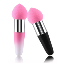 NEW Hot Pink Cosmetic Makeup puff Foundation Liquid BB Cream Soft Lollipop Sponge Brush 689E