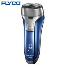 Flyco NEW Professional Voltage(100-240V) Electric Razor 2 independent floating heads Full Body washable Electric shaver FS868(China)