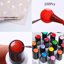 Label Sticker for Gel Polish Nail Art Adhesive Color Button Sticker How to Identify Your Nail Gel Polish Tool UR SUGAR 100Pcs(China)