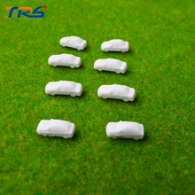 Teraysun 100pcs model car kits scale model cars 1:250 white mini plastic model cars