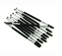 Recommend Double End Synthetic hair Eyebrow Eyelash Brush with Cheapest Price and Private Label makeup brush