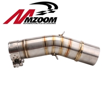 Free shipping Motorcycle exhaust pipe muffler Intermediate link contact tube For SUZUKI GSX250