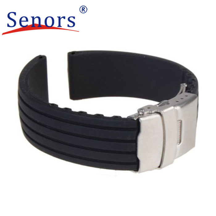 Essential 18mm, 20mm, 22mm, 24mm New Silicone Rubber Watch Strap Band Deployment Buckle Waterproof  Oct28<br><br>Aliexpress