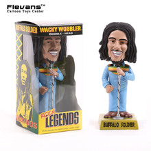 FUNKO Rock Legends Reggae Rasta Bob Marley Wacky Wobbler Bobble Head Car Decoration PVC Action Figure Collectible Toy Doll 19cm