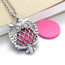 2 pcs Aroma Diffuser Necklace Open Antique Lockets Pendant Perfume Essential Oil Aromatherapy Locket Necklace With Pads 031416
