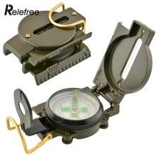 Pocket Military Style Survival Camping Sighting 360 Lensatic Compass w/Inclinometer 3 in 1 Pointer Pointing Guide Metal Green
