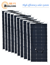 Boguang 10pcs 100w semi flexible solar panel 1000w solar module 12v high efficiency monocrystalline silicon cell MC4 connector(China)
