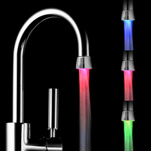 Temperature Controlled Led Faucet Light Temperature Sensor LED Water Tap Color Water Faucets Nozzle RGB Glow LED Shower Faucet(China)