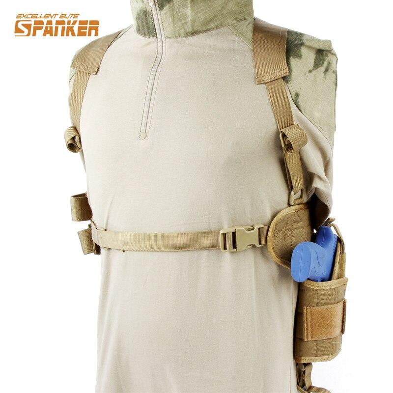 SPANKER 1000D Special Horizontal Universal Rig Shoulder Molle Pistol Gun Armpit Holster Combat Hunting Shooting Utility Gun Rig<br>