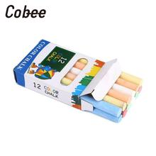 Cobee Colorful Dust Free Chalk Sticks Anti Dust Art Floor Blackboard Chalkboard For Kids School Supplies Art Crafts Stationery(China)