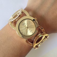 Real Photos!!! Super Fashion Quartz Casual Wristwatch G&D Brand Steel Analog Quartz Watch Womens Fashion 2017 Relojes de mujer(China)