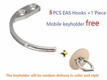 2017 hot selling 5pcs/lot Portable Detacher Hook Key Security Tag Remover eas hooks For eas Hard Tag Handheld Convenien(China)
