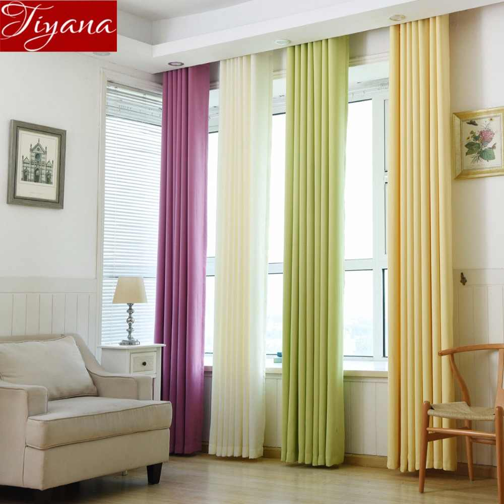 Linen Curtain Solid Modern Blackout Curtain for Living Room Window Bedroom Curtain Fabrics Treatment Drapes Sheer Fabric X470#30