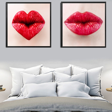 Red Lips Fashion Painting Spray Canvas Pictures Beauty Colorful Makeup Home Decor Art Wall Decor HD2019